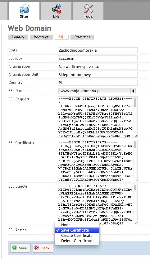 Instalacja certyfikatu SSL w ISPConfig 3